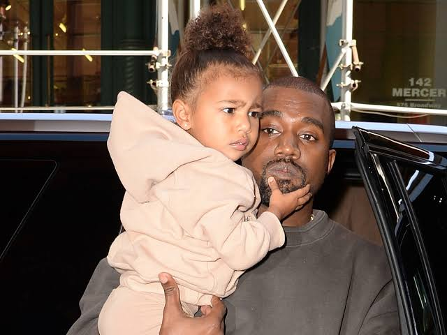 Image result for kanye and north""